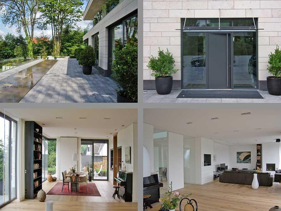 Bauprojekte wohnh user architekturb ro kreyerhoff for Einfamilienhaus innenansicht